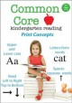 Common core kindergarten reading. Print concepts