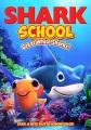Shark school. Great white sharks