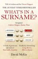 What's in a surname? : a journey from Abercrombie to Zwicker