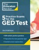 Five practice exams for the GED test.