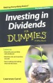 Investing in dividends : for dummies
