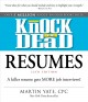 Book cover of Knock 'Em Dead Resumes