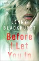 Before I let you in : a novel