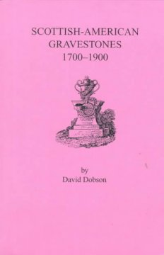 Scottish-American gravestones, 1700-1900 cover image