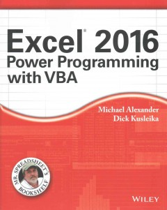 Excel 2016 power programming with VBA cover image