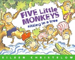 Five little monkeys sitting in a tree cover image