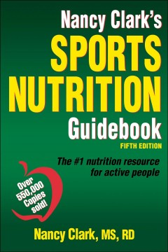 Nancy Clark's sports nutrition guidebook cover image