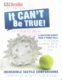 It can't be true a hailstone bigger than a tennis ball! : incredible tactile comparisons cover image