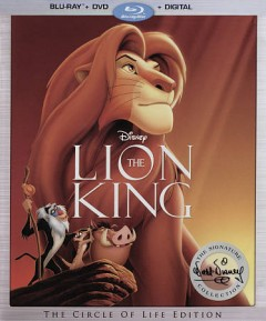 The lion king [Blu-ray + DVD combo] cover image