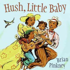 Book jacket for Hush, little baby /