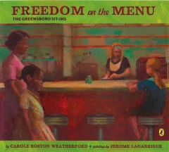 Book jacket for Freedom on the menu : the Greensboro sit-ins