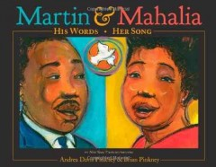 Book jacket for Martin & Mahalia : his words, her song