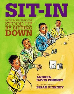 Book jacket for Sit-in : how four friends stood up by sitting down