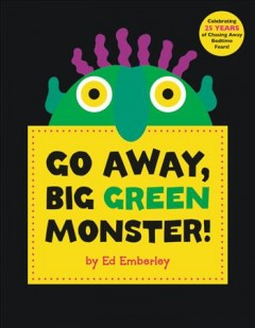 Book jacket for Go away, big green monster!
