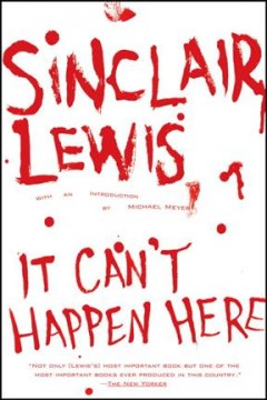 Book jacket for It can't happen here [BOOK DISCUSSION]