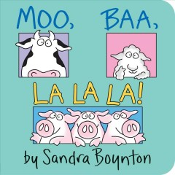 Book jacket for Moo, baa, la la la /