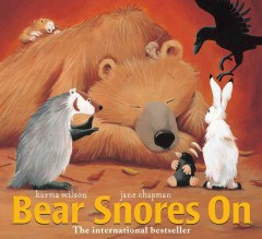 Book jacket for Bear snores on /