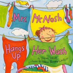 Book jacket for Mrs. McNosh hangs up her wash /