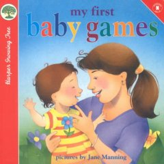 Book jacket for My first baby games /