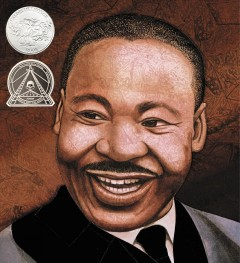 Book jacket for Martin's big words : the life of Dr. Martin Luther King, Jr.