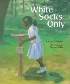 Book jacket for White socks only