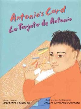 Book jacket for Antonio's card