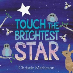 Book jacket for Touch the brightest star