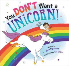 Book jacket for You don't want a unicorn!