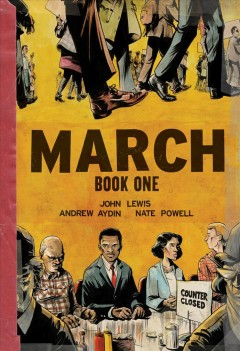 Book jacket for March. Book one