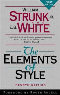 Catalog record for The elements of style