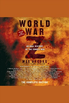 World War Z : an oral history of the zombie war book cover