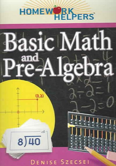 Homework helpers. Basic math and pre-algebra