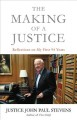 Book jacket for The making of a justice : reflections on my first 94 years