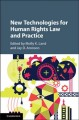 Book jacket for New technologies for human rights law and practice