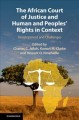 Book jacket for The African Court of Justice and human and peoples' rights in context : development and challenges