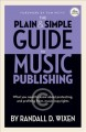 Book jacket for The plain & simple guide to music publishing