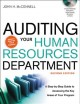 Auditing Your Human Resources Department: A Step-by-Step Guide to Assessing the Key Areas of Your Program (Hardcover Book) at Sears.com