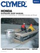 Clymer Honda Outboard Shop Manual: 2-130 HP four-stroke - 1976 - 2005 (Includes Jet Drives) (Paperback Book) at Sears.com