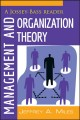 Management and Organization Theory: A Jossey-Bass Reader (Paperback Book) at Sears.com