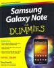 Samsung Galaxy Note For Dummies (Paperback Book) at Sears.com