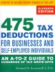 475 Tax Deductions for Businesses and Self-Employed Individuals: An A-to-Z Guide to Hundreds of Tax Write-offs (Paperback Book) at Sears.com