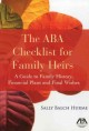 The ABA Checklist for Family Heirs: A Guide to Family History, Financial Plans and Final Wishes (Paperback Book) at Sears.com