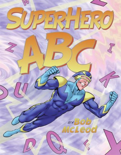 Superhero ABC book cover