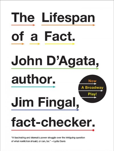 Lifespan of a fact book cover
