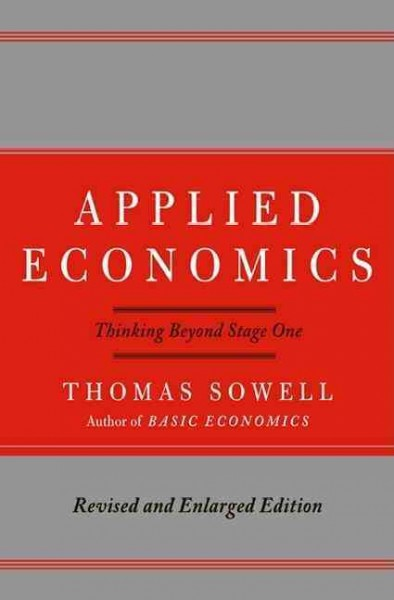 Applied economics : thinking beyond stage one /