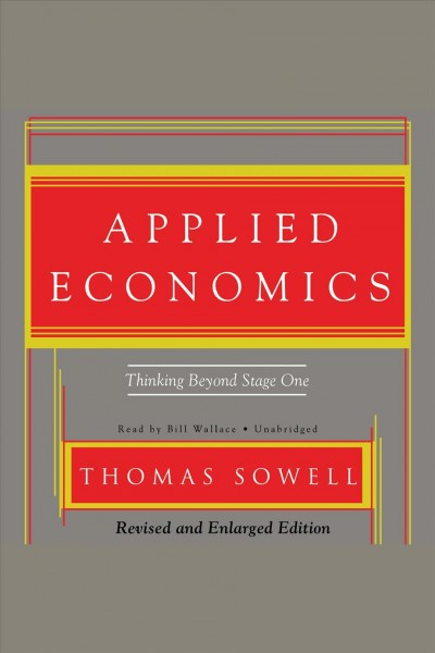 Applied economics thinking beyond stage one /