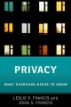 PRIVACY : WHAT EVERYONE NEEDS TO KNOW