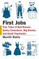 FIRST JOBS : TRUE TALES OF BAD BOSSES, QUIRKY COWORKERS, BIG BREAKS, AND SMALL PAYCHECKS