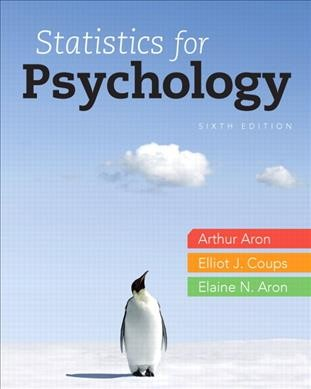 Statistics for psychology /