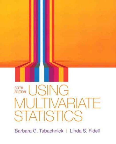 Using multivariate statistics /